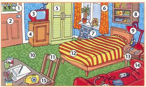 Ma chambre - Les meubles de la chambre ...