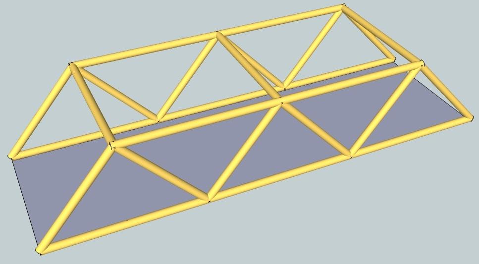 una maqueta de una estructura para que la podáis hacer en casa