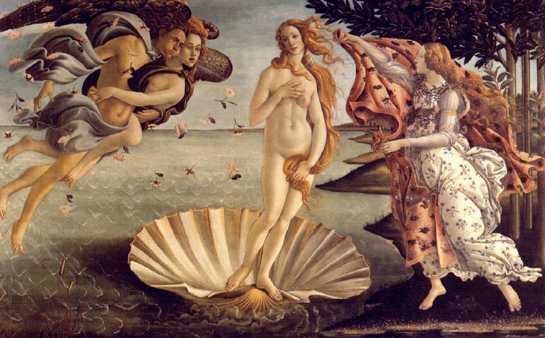 Botticelli: El nacimiento de Venus