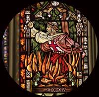 Jacques de Molay, quemándose en la hoguera